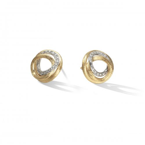 Marco Bicego Ohrringe mit Diamanten Gold 18 Karat Jaipur Link Ohrstecker OB1007 B YW