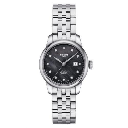 Tissot Le Locle Automatic Lady mit Diamanten & schwarzem Perlmutt-Zifferblatt 29mm T006.207.11.126.00 | Uhren-Lounge