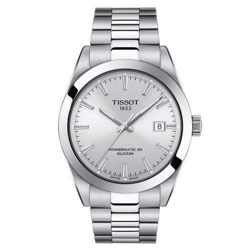 Tissot Gentleman Powermatic 80 Silicium Silber Edelstahl-Armband Herrenuhr 40mm T127.407.11.031.00 | Uhren-Lounge