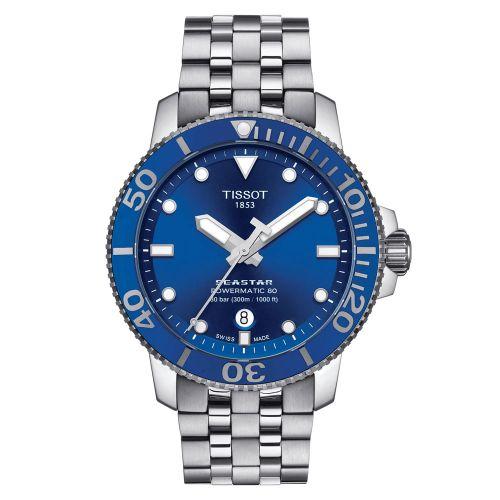 Tissot Seastar 1000 Powermatic 80 Blau 43mm Edelstahl-Armband Herren Automatic T120.407.11.041.00 | Uhren-Lounge