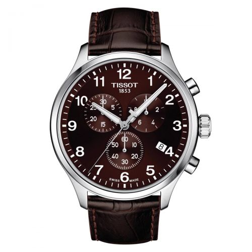 Tissot Chrono XL Classic Braun Leder-Armband Herrenuhr Chronograph Quarz 45mm T116.617.16.297.00