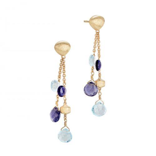 Marco Bicego Ohrringe Paradise Gold mit blauen Topas & Iolit Edelsteinen OB1701 MIX240 Y