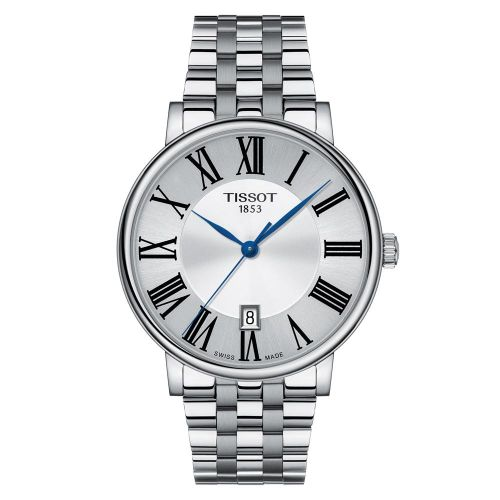 Tissot Carson Premium Gent Herrenuhr Silber Edelstahlband 40 mm Quarz T122.410.11.033.00