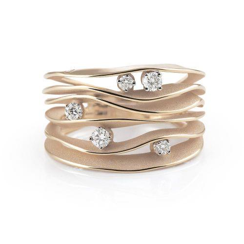 Annamaria Cammilli Ring Dune Natural Beige Gold mit Diamanten GAN0914N