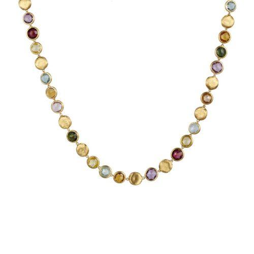 Marco Bicego Jaipur Color Kette mit bunten Edelsteinen Gold 18 Karat CB1562 MIX01 Y
