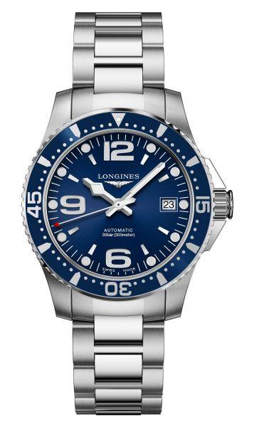Longines HydroConquest 39mm Blau Automatik Edelstahl-Armband Herrenuhr L3.741.4.96.6 | Uhren-Lounge