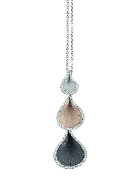Annamaria Cammilli Halskette Anhänger Gold Diamanten Goccia GPE2113 | Uhren-Lounge
