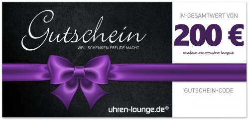Geschenkgutschein 200 € für Uhren & Schmuck Geschenke | Uhren-Lounge