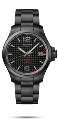 Longines Conquest V.H.P. schwarze Herren Armbanduhr 43mm L3.726.2.66.6