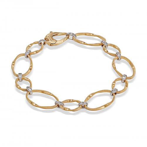 Marco Bicego Marrakech Onde Armband Gold mit Diamanten Pavés BG783 B2 YW