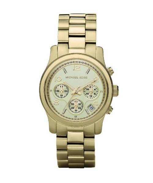 Michael Kors Uhr Damen Gold Chronograph Jet Set MK5055