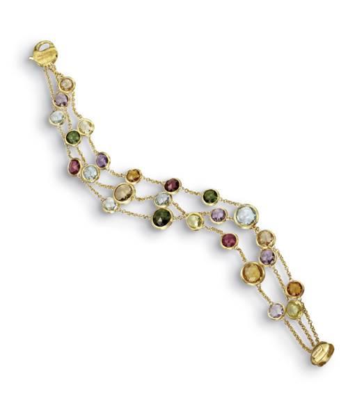 Marco Bicego Armband mit bunten Edelsteinen Gold 18 Karat Jaipur BB1306-MIX01