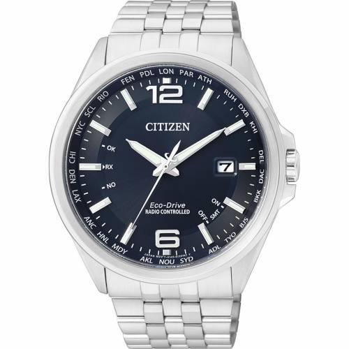 Citizen Eco-Drive 4 Zonen Herren Funkuhr 43mm mit blauem Zifferblatt CB0010-88L