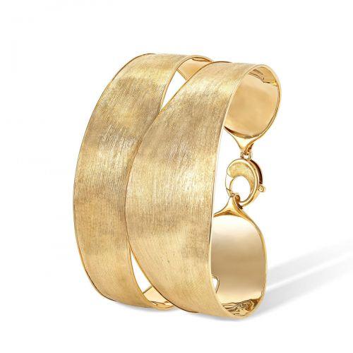 Marco Bicego Armreif Gold 18 Karat mit breitem Doppelband Lunaria Armband SB119 Y