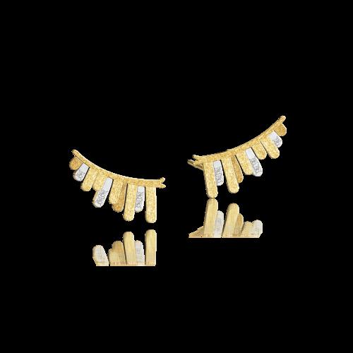 Luisa Rosas Caring Tales Pegasus Ohrringe Gold mit Diamanten LRCT154