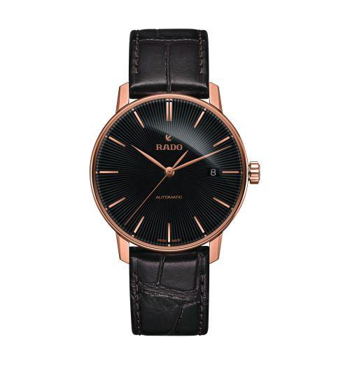 Rado Coupole Classic Automatic Herrenuhr 38mm Rosegold Schwarz Leder-Armband R22861165 | Uhren-Lounge