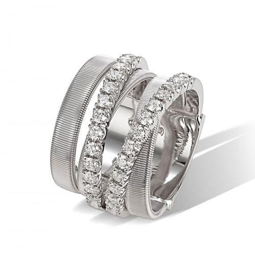 Marco Bicego Ring Masai Weißgold mit Diamanten 5 Stränge AG331 B W