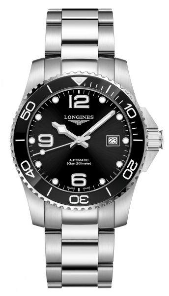 Longines HydroConquest 41mm Automatik Schwarz Edelstahl-Armband L3.781.4.56.6 | Uhren-Lounge