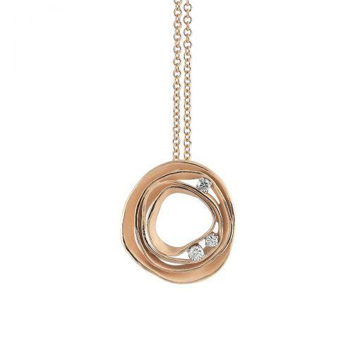 Annamaria Cammilli Halskette mit Anhänger Dune Orange Gold 18 Karat mit Diamanten GPE0776J