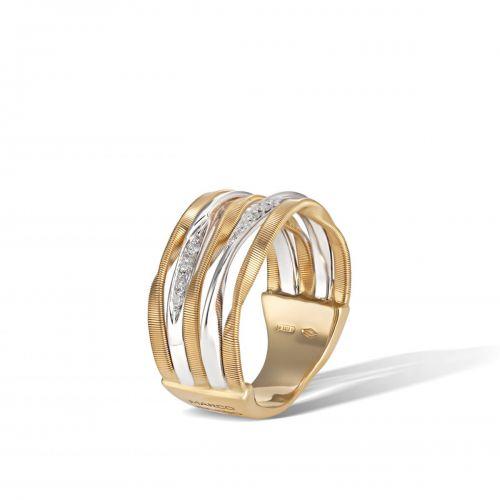 Marco Bicego Marrakech Onde Ring mit Diamanten Gold 5 Stränge AG349 B YW