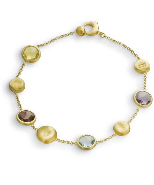 Marco Bicego Jaipur Color Armband mit bunten Edelsteinen Mix Gold 18 Karat BB1243 MIX01 Y