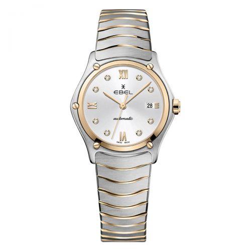 Ebel Sport Classic Lady Automatic Damenuhr Bicolor Rosegold Silber mit Diamanten 29mm 1216525