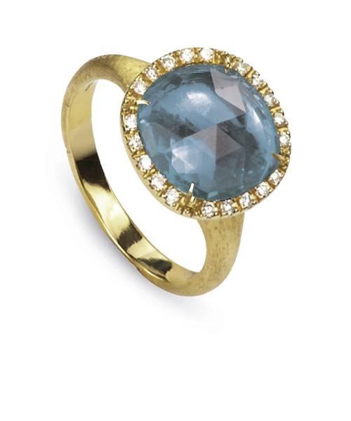Marco Bicego Jaipur Ring mit blauem Topas und Diamanten AB449-B2 TP01