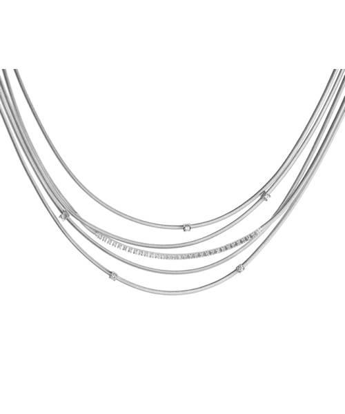 Marco Bicego Damen Kette Weißgold 5 Stränge mit Diamanten Goa Halskette CG618-B2 | Uhren-Lounge