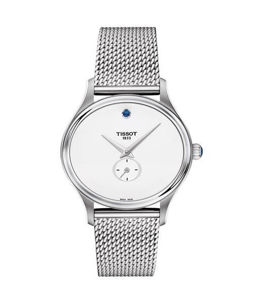 Tissot Bella Ora Damenuhr Silber mit Perlmutt-Zifferblatt weiß und Milanaise-Armband T103.310.11.031.00 | Uhren-Lounge