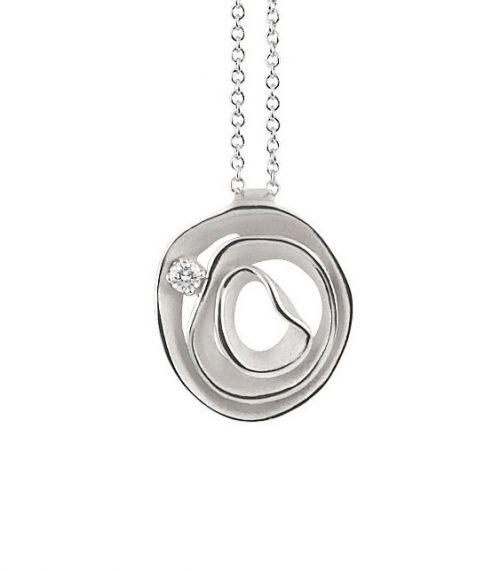 Annamaria Cammilli Dune Halskette Weißgold Diamant GPE2442W