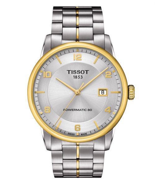 Tissot Luxury Powermatic 80 Automatic Gent Bicolor Gold Silber Edelstahl-Armband 41mm T086.407.22.037.00 | Uhren-Lounge