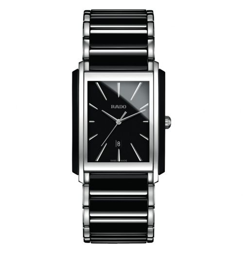 Rado Integral L Herrenuhr Bicolor Silber Schwarz Keramik Quartz R20963152 | Uhren-Lounge
