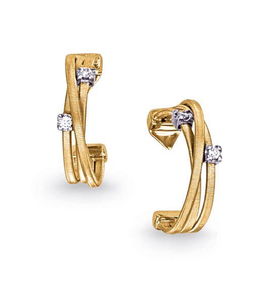 Marco Bicego Goa Ohrringe Gold & Diamanten 18 Karat 3 Stränge OG296 B YW