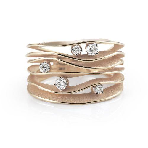 Annamaria Cammilli Dune Ring Rosegold mit Diamanten Pink Champagne GAN0914P | Uhren-Lounge