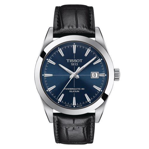 Tissot Gentleman Powermatic 80 Silicium Automatic Blau Leder-Armband Schwarz 40mm T127.407.16.041.01