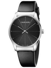 Calvin Klein Classic Herrenuhr 38mm mit schwarzem Lederarmband K4D211CY