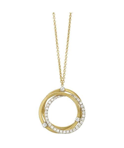 Marco Bicego Anhänger mit Kette Gold mit Diamanten Goa CG674 B2 YW