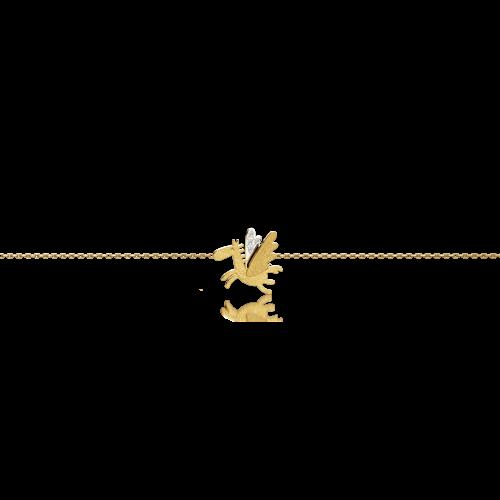 Luisa Rosas Caring Tales Pegasus Armband Gold mit Diamanten LRCT152