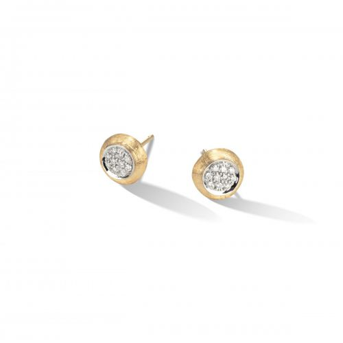 Marco Bicego Ohrstecker Gold mit Diamanten Pave Jaipur Link Ohrringe OB1377 B YW