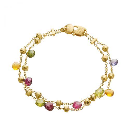 Marco Bicego Paradise Armband Gold mit Edelsteinen 2 Stränge BB887 MIX01 Y