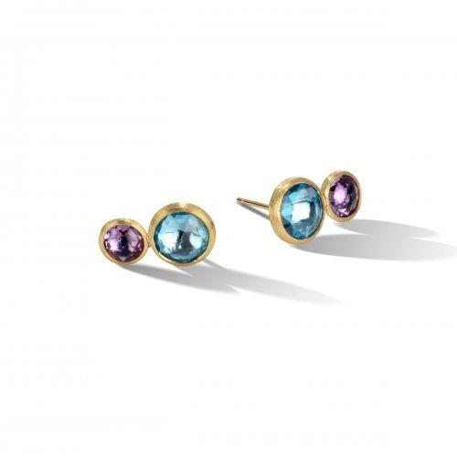Marco Bicego Doppel-Ohrstecker mit Topas & Amethyst Gold Jaipur Color Ohrringe OB1518 MIX52 Y
