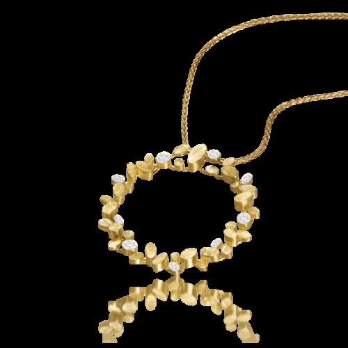 Luisa Rosas BE Ring-Anhänger mit Diamanten Gold 18 Karat S LRBE002