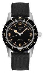Longines Heritage Skin-Diver Automatic Herrenuhr 42mm Kautschuk-Armband schwarz L2.822.4.56.9 günstig online kaufen   Uhren-Lounge
