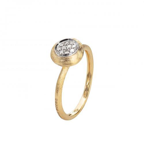 Marco Bicego Jaipur Link Ring Gold mit Diamanten Pavé AB471 B YW