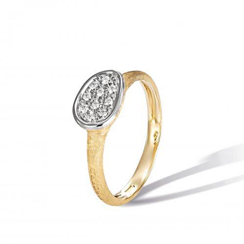 Marco Bicego Lunaria Ring mit Diamanten Pavé Gold 18 Karat AB622 B YW