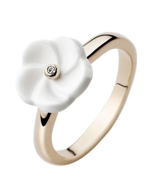 Meissen Porzellan Ring mit Diamant MPJ10BL11400