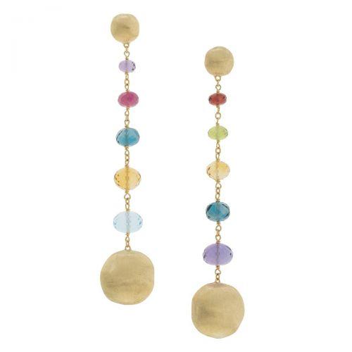 Marco Bicego Ohrhänger Africa Color Gold mit Edelsteinen Ohrringe OB1624-MIX02-Y