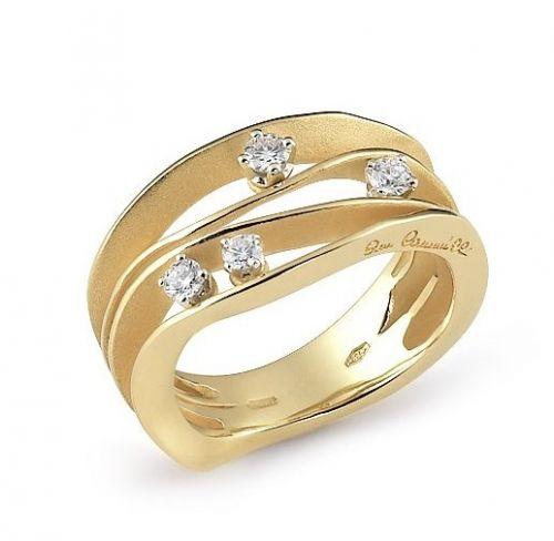 Annamaria Cammilli Ring mit Diamanten Gelbgold Sunrise Dune GAN0778U