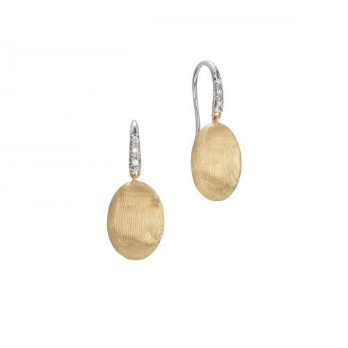 Marco Bicego Ohrhänger Gold mit Diamanten Pave Siviglia Ohrringe OB1691-A B1 YW