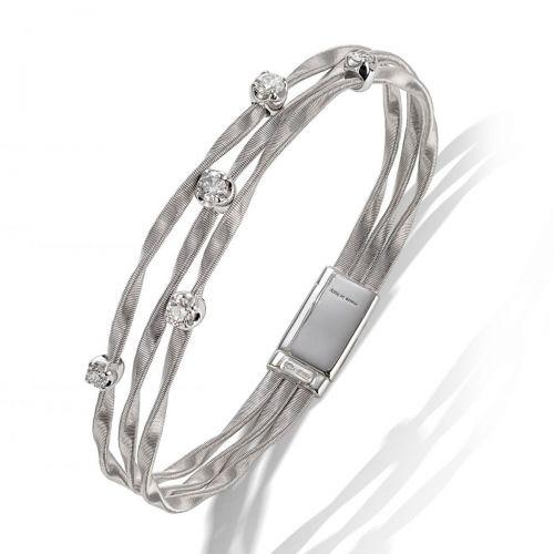 Marco Bicego Armband Weißgold mit Diamanten 3 Stränge Marrakech Couture BG338 B4 W